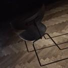 Chaise BIRD - Noyer, acier vernis noir