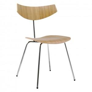 BIRD chair - Oak, chrome
