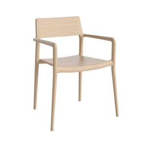 CHICAGO white oiled oak chair