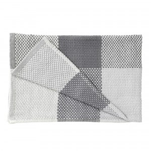 LOOM THROW grey plaid