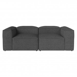 Canapé modulable COSIMA 2,5 places HAZEL/dark grey
