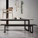 DT20 Table - White laminate, Walnut