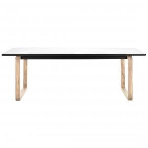 Table DT20 - Stratifié blanc, Chêne blanchi