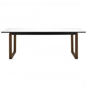 DT20 Table - White laminate, Smoked oak