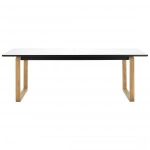 Table DT20 - Stratifié blanc, Chêne