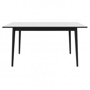 CONEY table white laminate/black