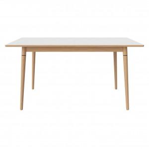 Table CONEY laminé blanc/chêne huilé