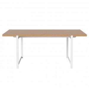 FRAME Dining table oiled oak/white frame