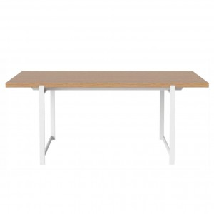 Table FRAME chêne huilé/pieds blancs