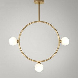 CIRCLE pendant - Brass, 3 Globes
