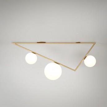 Plafonnier TRIANGLE 1 - Laiton, 3 Globes