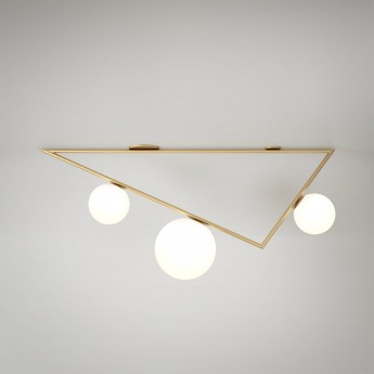 TRIANGLE ceiling - Brass, 3 Globes