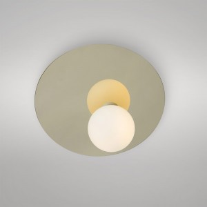 DISC AND SPHERE ASYMMETRICAL wall light