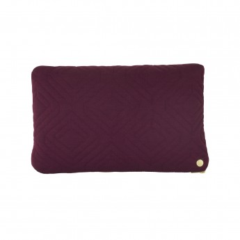 QUILT bordeaux Cushion 40 x 25 cm