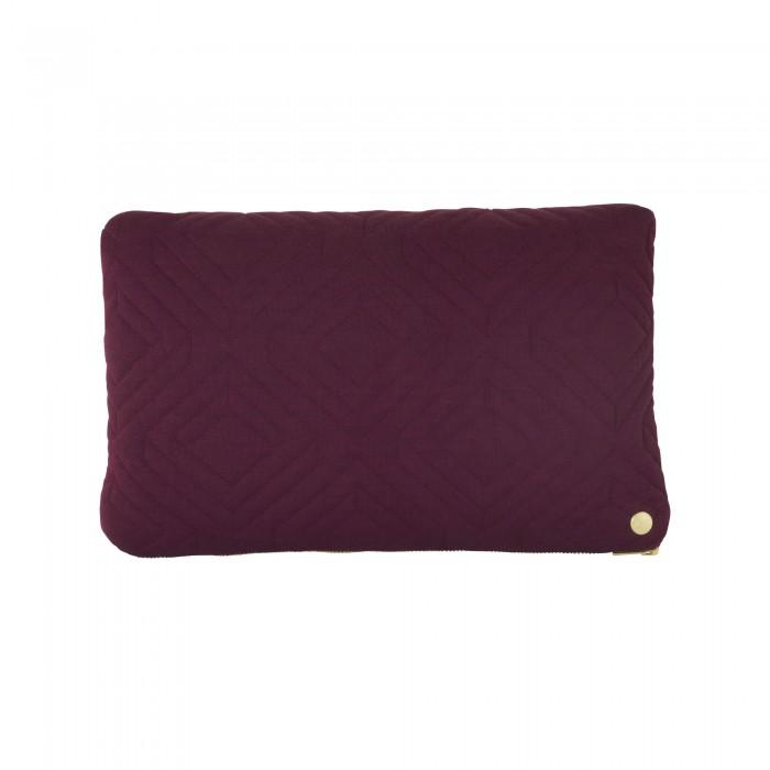 QUILT bordeaux Cushion 40 x 25 cm
