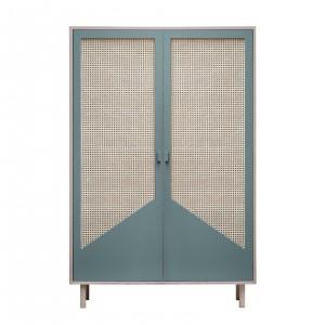 Armoire STRAW bleue gris