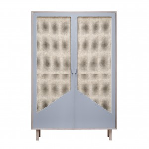 Armoire STRAW gris clair