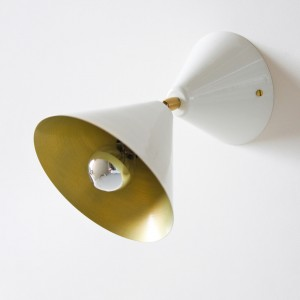 CONE wall light - White/Brass