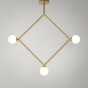 Suspension RHOMBUS - Laiton, 3 Globes
