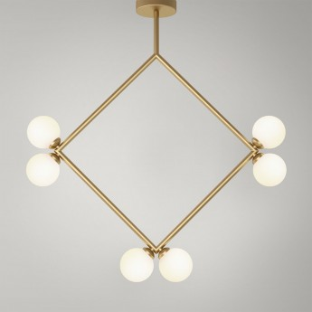 Suspension RHOMBUS - Laiton, 6 Globes