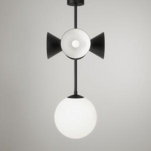 Suspension AXIS - Globes et cones, noir