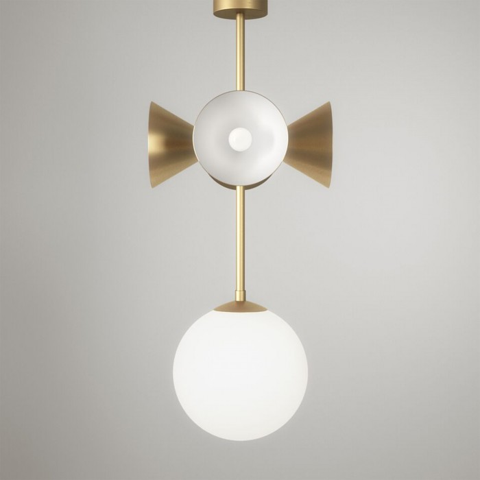 AXIS pendant - Globes and cones, brass
