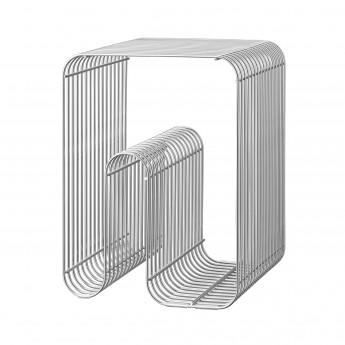 CURVA silver stool