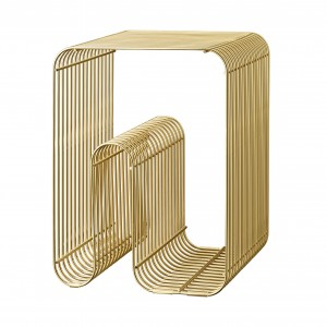 CURVA gold stool