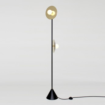 DISC AND SPHERE floor lamp