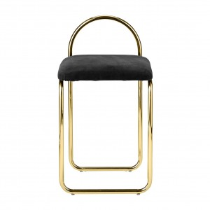 ANGUI anthracite/gold chair
