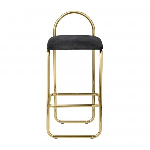 ANGUI anthracite/gold stool