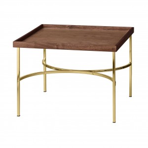 UNITY walnut/gold table
