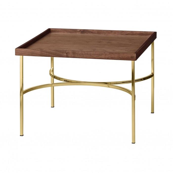 Table UNITY noyer/doré
