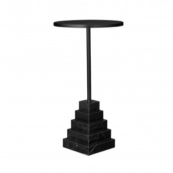 Table SOLUM noir H 55 cm