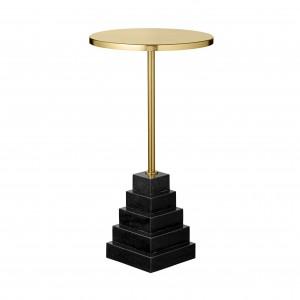 SOLUM black/gold table H 55 cm