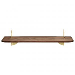 AEDES walnut/gold shelf