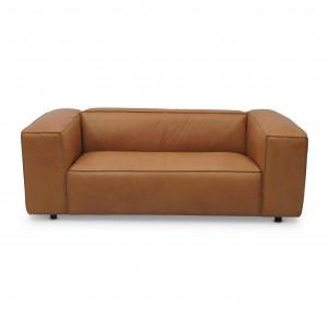 DUNBAR modular sofa - 2 seat - Leather terracotta