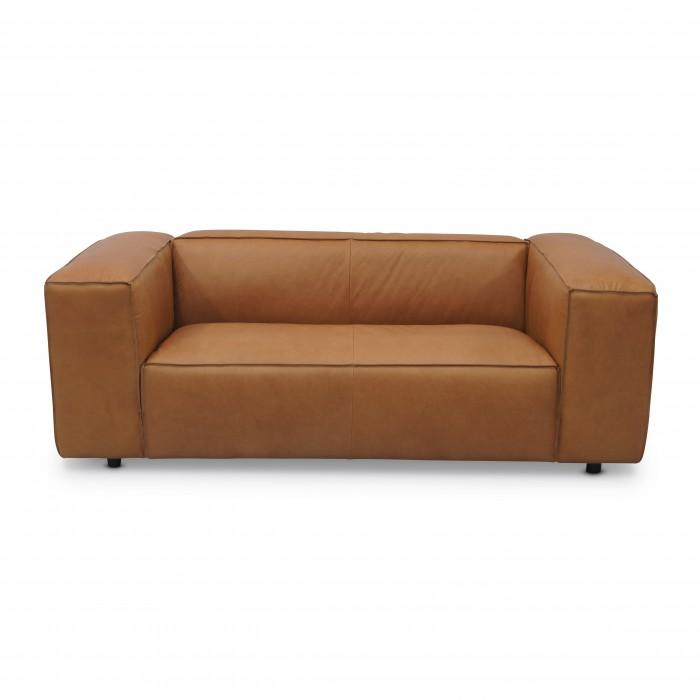 DUNBAR sofa - 2 seat - Leather terracotta