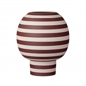 VARIA vase rose/bordeaux