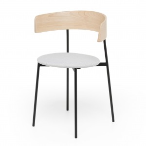 FRIDAY chair with arms - Board Zinc