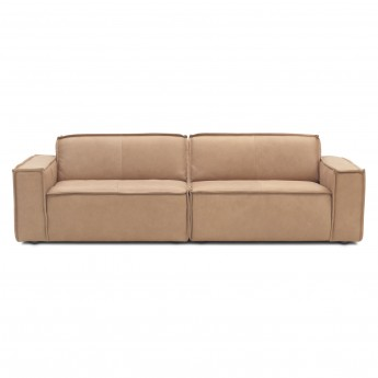 EDGE modular sofa - 3 seat - Leather naturale 8002 Sand