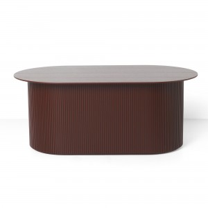 PODIA Red Brown low table
