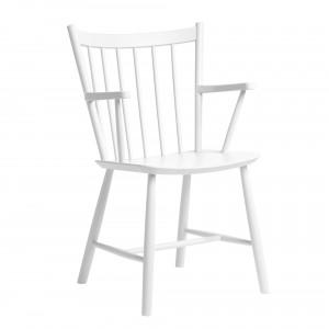 Chaise J42 hêtre teinté blanc