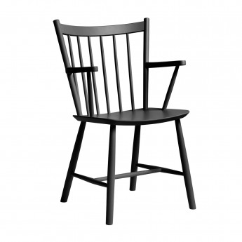 J42 chair black lacquered beech