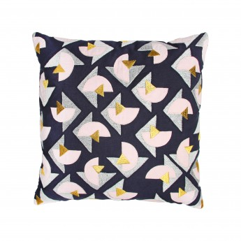Coussin TRIANGLE - Rose/Gris
