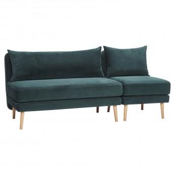 Canapé 2 personnes - Velour vert