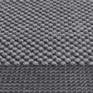 PEBBLE L rug - Dark grey