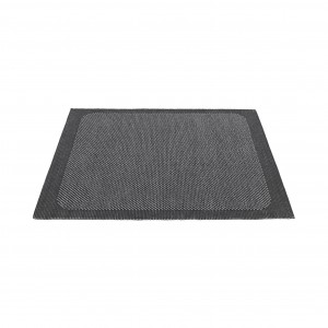 PEBBLE S rug - Dark grey