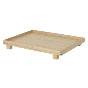 BON WOODEN tray L - oak