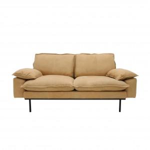 RETRO 2 seater sofa - Natural leather